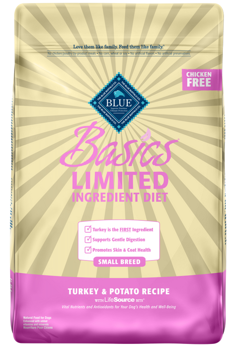 Blue Buffalo Basics Small Breed Adult Turkey & Potato Recipe Dry Dog Food