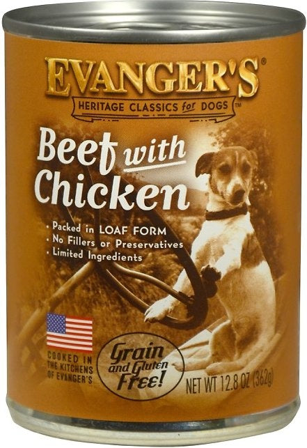 Evangers Beef with Chicken Canned Dog Food