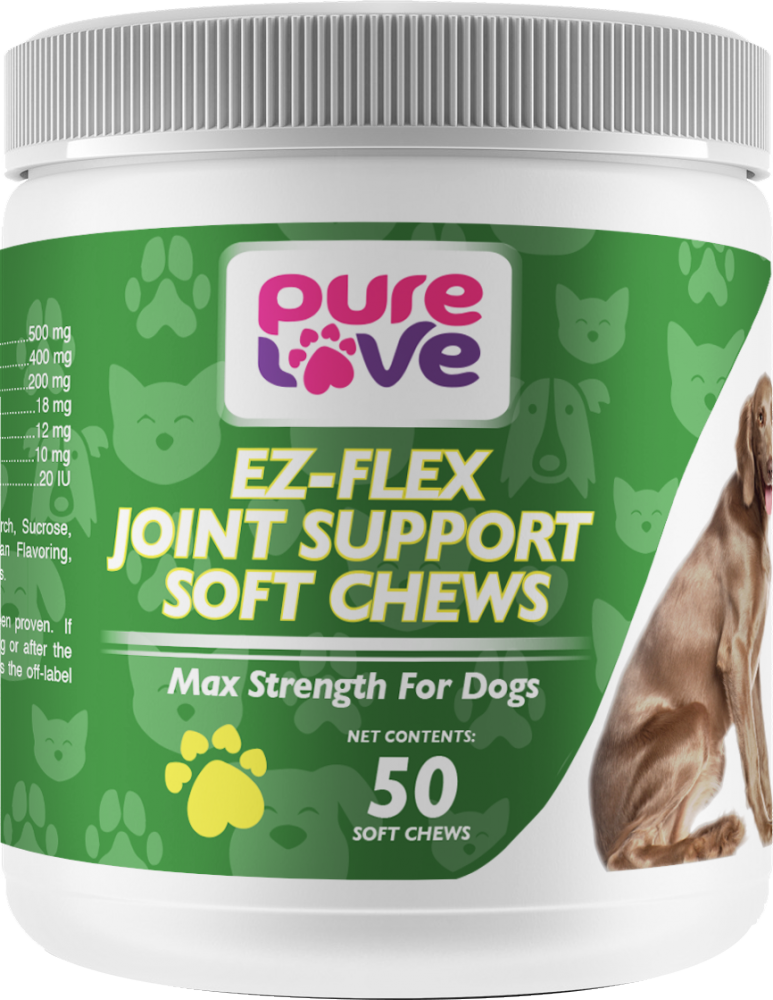 Pure Love Ez-Flex Joint Support Soft Chews for Dogs