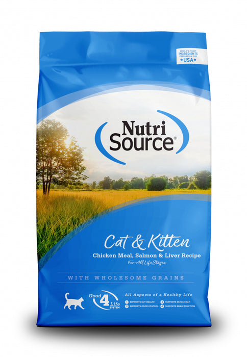 NutriSource Cat & Kitten Chicken, Salmon & Liver Dry Cat Food