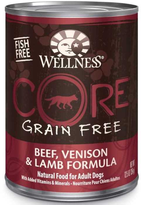 Wellness CORE Grain Free Natural Beef, Venison and Lamb Recipe Wet Canned Dog Food