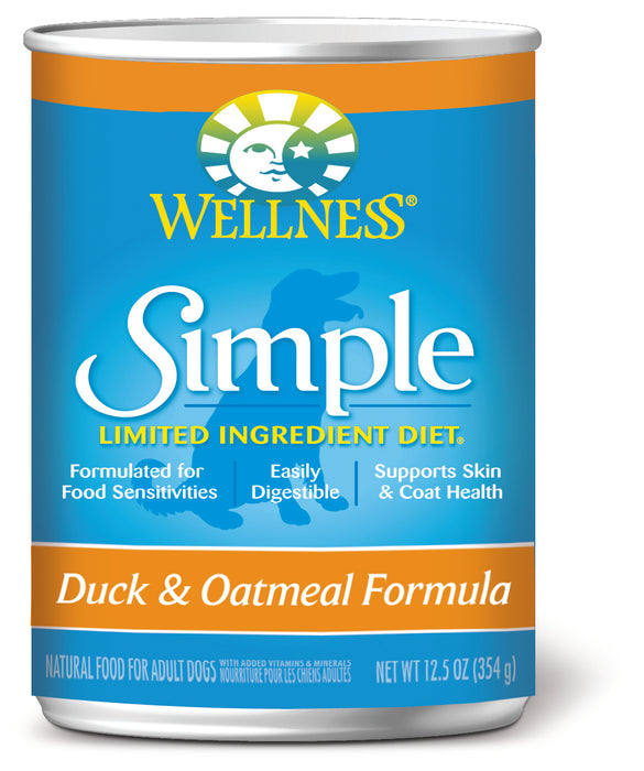 Wellness Simple Natural Limited Ingredient Diet Duck and Oatmeal Recipe Wet Canned Dog Food