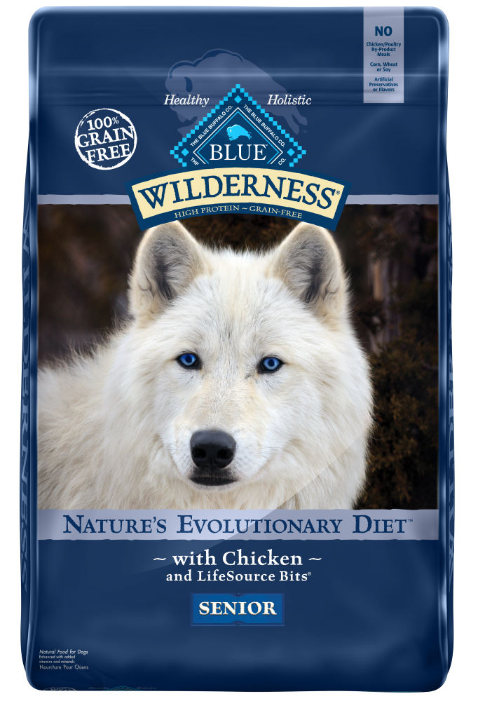 Blue Buffalo Wilderness Grain Free Chicken High Protein Recipe Senior Dry Dog Food