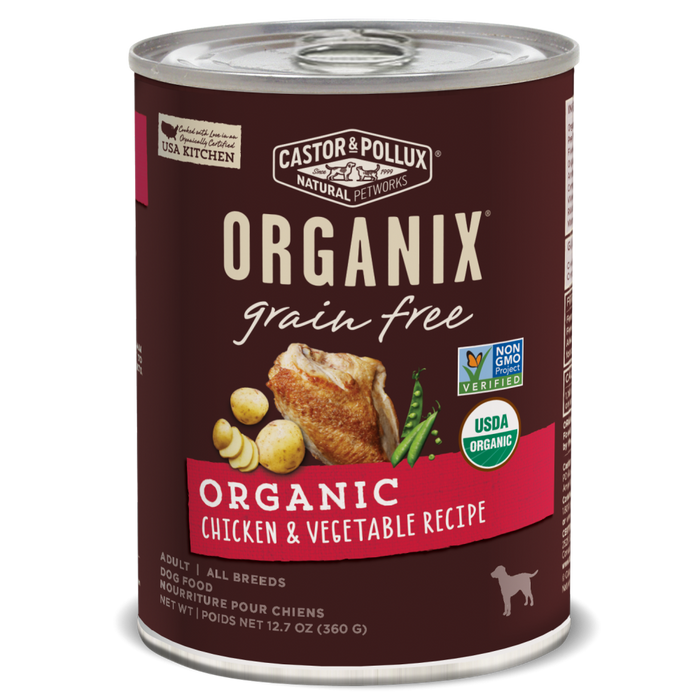 Castor and Pollux Organix Grain Free Chicken and Vegetable Formula Adult Canned Dog Food