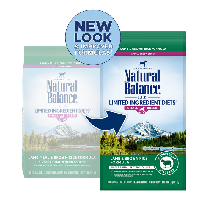 Natural Balance L.I.D. Limited Ingredient Diets Lamb & Brown Rice Formula Small Breed Bites Dry Dog Food