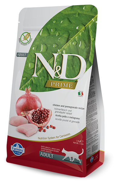 Farmina Prime N&D Natural & Delicious Grain Free Adult Chicken & Pomegranate Dry Cat Food