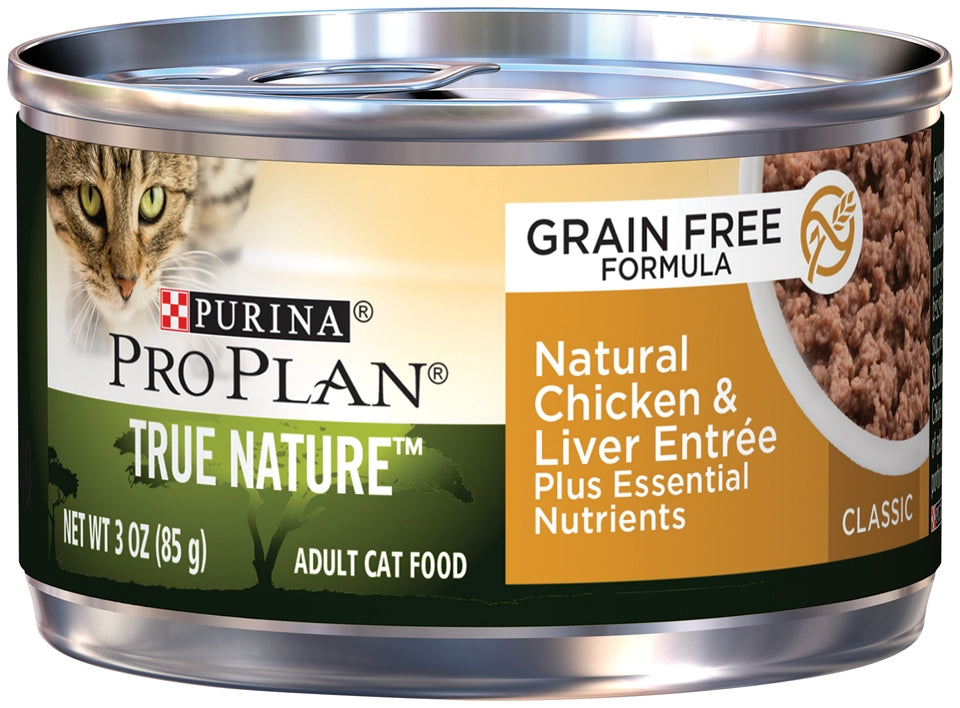 Purina Pro Plan True Nature Grain Free Adult Natural Chicken & Liver Entree Canned Cat Food