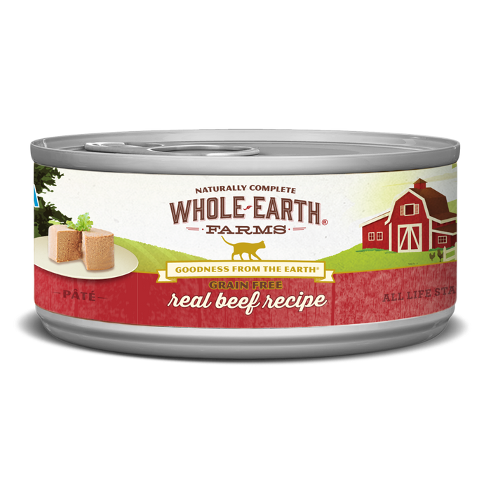 Whole Earth Farms Grain Free Real Beef Canned Cat Food