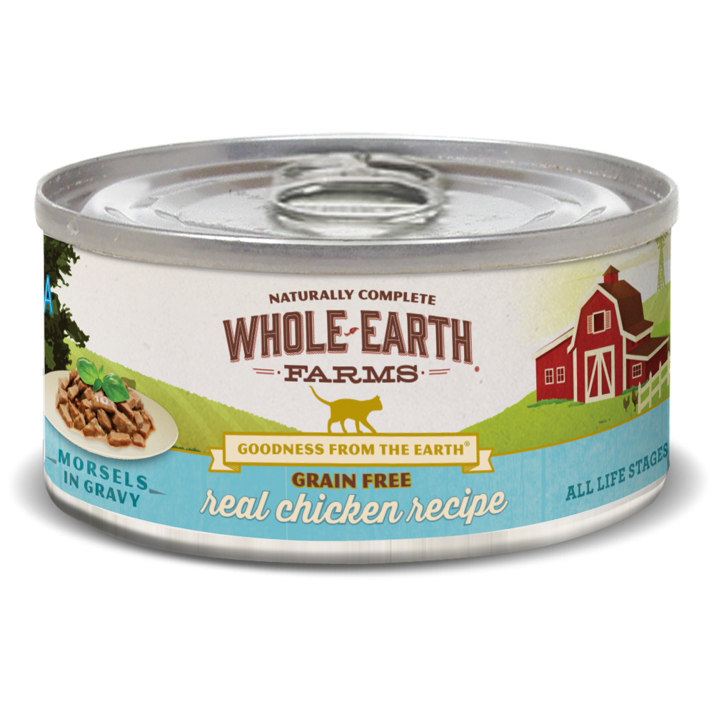 Whole Earth Farms Grain Free Chicken Morsels in Gravy Recipe Canned Cat Food