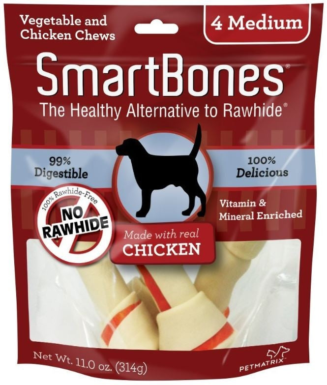 SmartBones Medium Chicken Chew Bones Dog Treats