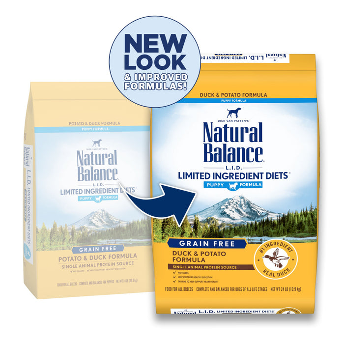 Natural Balance L.I.D. Limited Ingredient Diets Grain Free Potato and Duck Puppy Formula Dry Dog Food