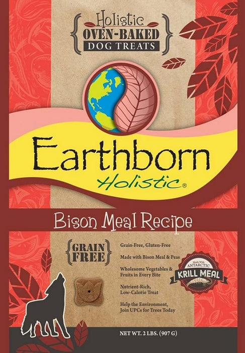 Earthborn Holistic Grain Free Oven Baked Biscuits Bison Meal Recipe Dog Treats