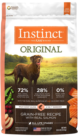 Nature's Variety Instinct Original Grain Free Recipe with Real Salmon Natural Dry Dog Food