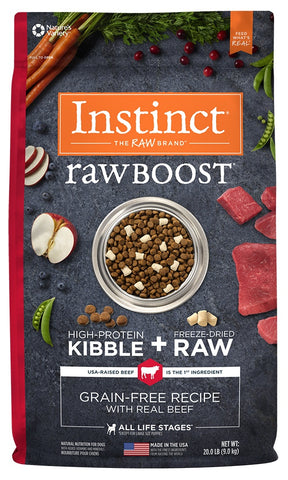 Nature's Variety Instinct Raw Boost Grain Free Recipe with Real Beef Natural Dry Dog Food