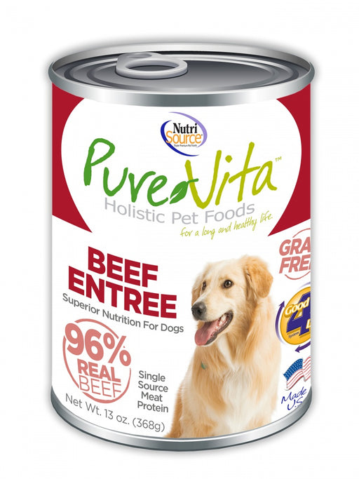 PureVita Grain Free 96% Real Beef Entree Canned Dog Food