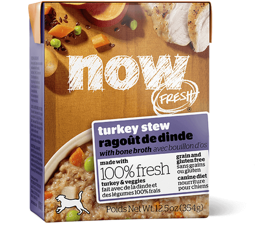 Petcurean Now! Fresh Grain Free Turkey Stew with Bone Broth Wet Dog Food
