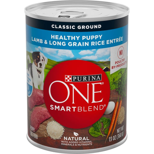 Purina ONE SmartBlend Classic Healthy Puppy Ground Lamb & Long Grain Rice Canned Dog Food