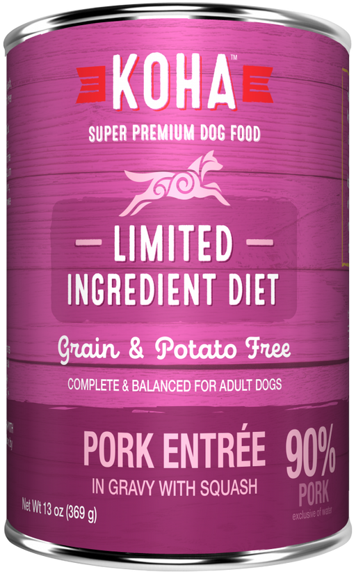 KOHA Grain & Potato Free Limited Ingredient Diet Pork Entree in Gravy with Squash Canned Dog Food