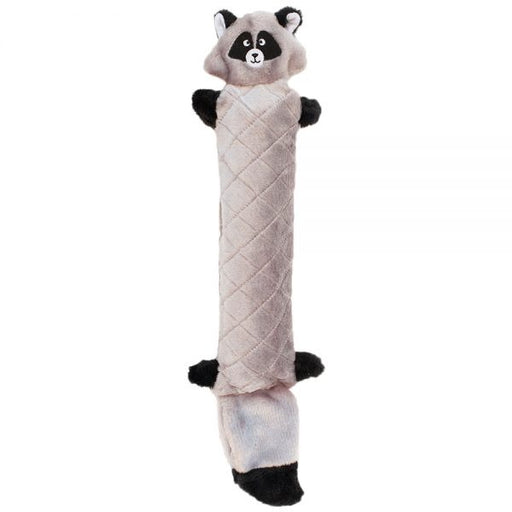 ZippyPaws Jigglerz No Stuffing Raccoon Plush Dog Toy