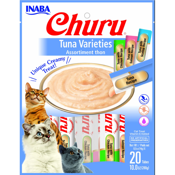 Inaba Churu Tuna Puree Cat Treats Variety Pack
