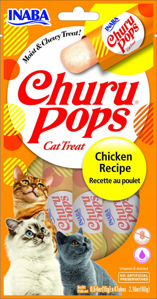 Inaba Churu Pops Chicken Recipe Cat Treats