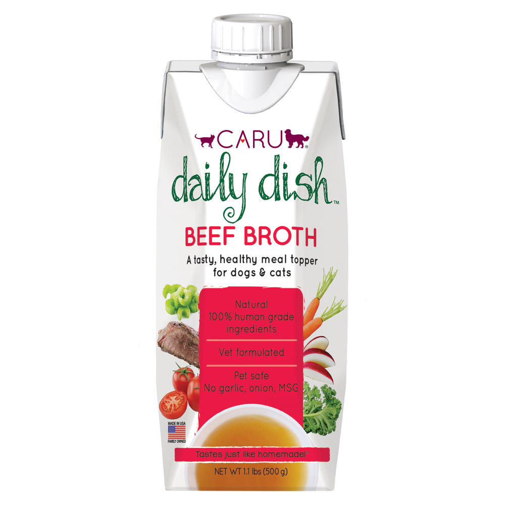 Caru Daily Dish Beef Broth for Dogs & Cats
