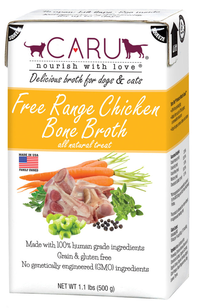 Caru Free Range Chicken Bone Broth For Dogs & Cats