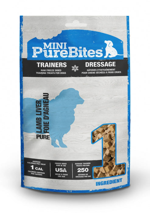 PureBites Mini PureBites Trainers RAW Freeze Dried Lamb Liver Dog Treats
