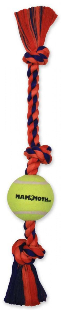 Mammoth 3 Knot Tug with Tennis Ball Dog Toy