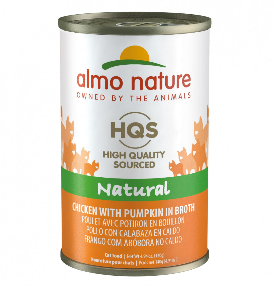 Almo Nature HQS Natural Cat Grain Free Additive Free Chicken with Pumpkin Canned Cat Food