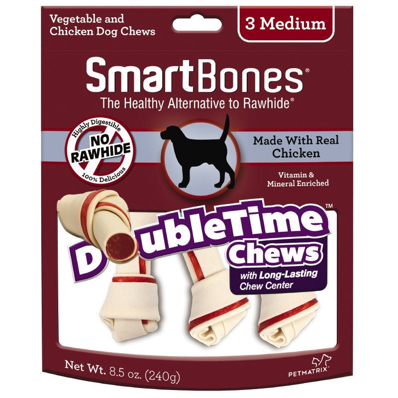 SmartBones DoubleTime Bones Chicken Dog Treat