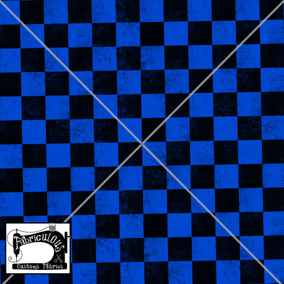 R24- Blue Checks Print