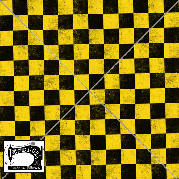R24- Yellow Checks Print