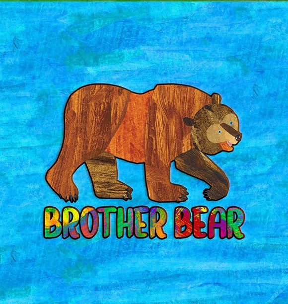 R11- Brown Bear- Brother Bear- Shirt Panels