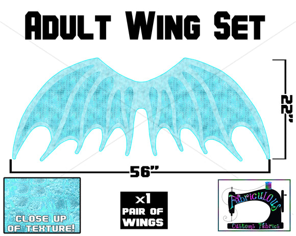 R16 - Dragon Wings ADULT Panel- Blue