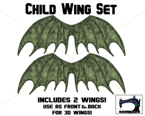 R16 - Dragon Wings Child Panel SET- Green