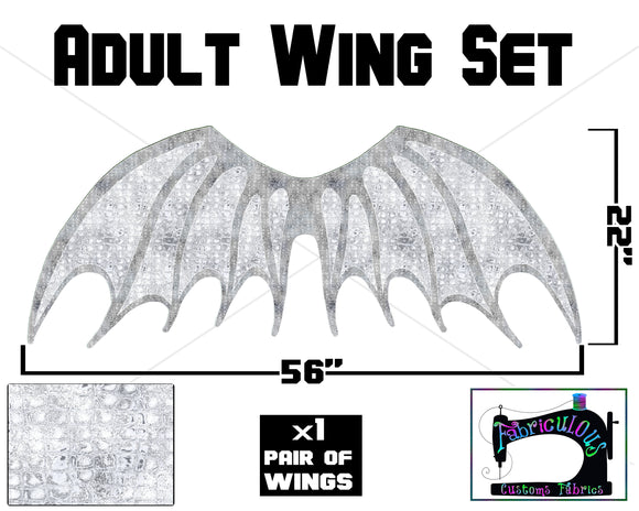 R16 - Dragon Wings ADULT Panel- WHITE