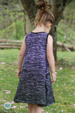 R23- Two-Tone Ombre: Charcoal Black to Dark Purple