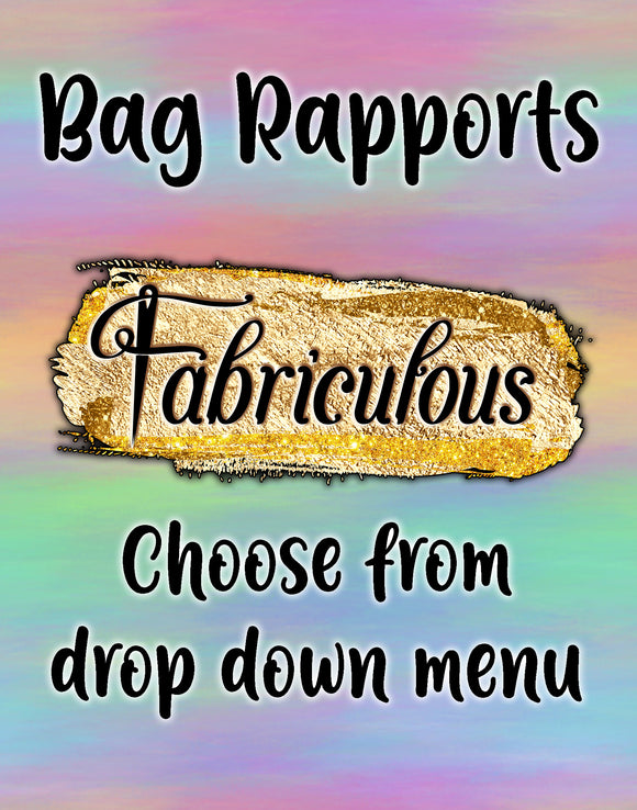 Faves- Choose Your Bag Rapport