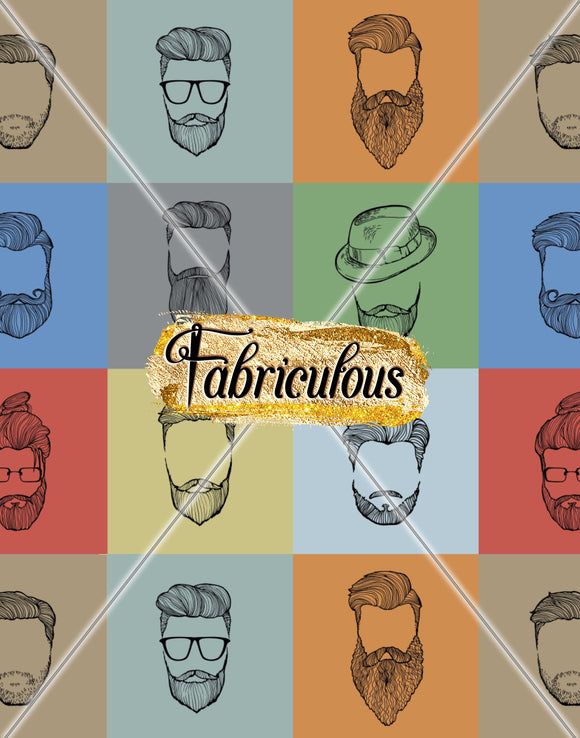 Fab Faves-  Beards Print