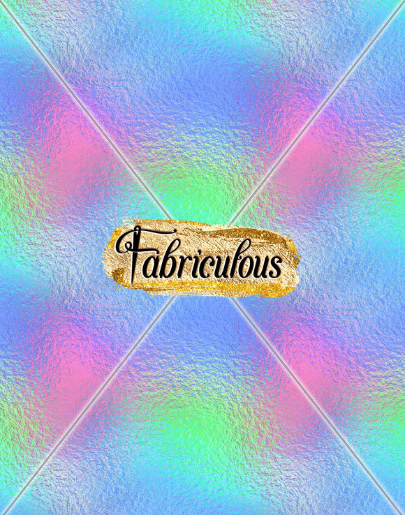 Fab Faves-  Holographic rainbow Print