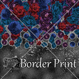 "RESERVED FOR GABRIELLE  Grey Floral ""Border"" Print"