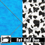 R22- Cowboy Coords Fat Half Duo (Blue/Cow)