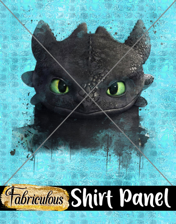 Faves- Night Fury Shirt Panel