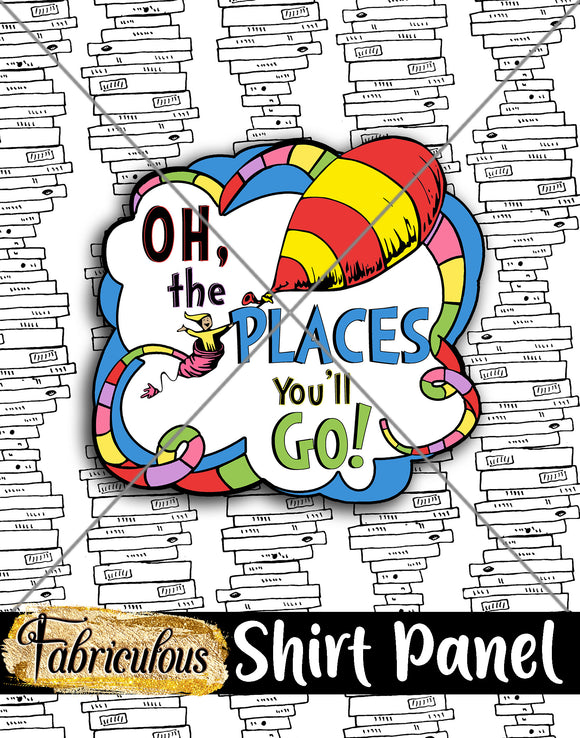 Faves- Going Places Shirt Panel