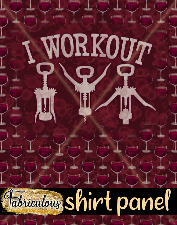 Red Workout Shirt Panel