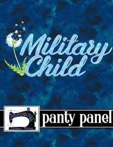 R14 - Blue Military Child- Panty Panel