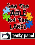 R14 - Autism Awareness- Panty Panel