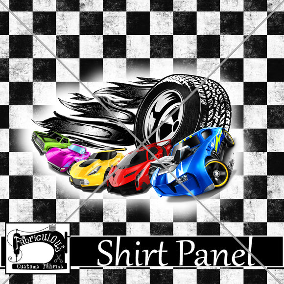 R24-  Checkered Car Shirt Panel