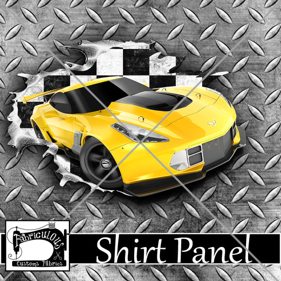 R24- Yellow Car Shirt Panel
